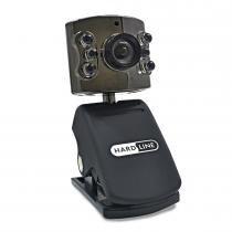 Webcam Cutie USB com 6 LEDS Preto 3608 - Hardline - Hardline