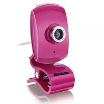 Webcam Facelook Com Microfone Usb Rosa Wc048 Multilaser -