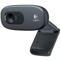 Webcam Logitech C270, 720p HD Preto - USB, Com Microfone -