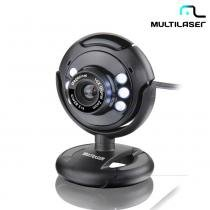 Webcam Multilaser Night Vision 16MP Led Preto WC045 -