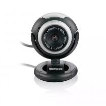 Webcam  multilaser plug  play 1.6mp vision mic usb preto grafite - wc044 -