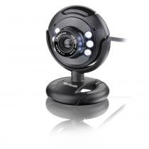 Webcam plug e play 16 mp Night Vision microfone usb preto - WC045 - Multilaser