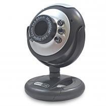 Webcam USB com 6 LEDS Preto/Prata 6809 - Hardline - Hardline