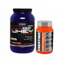 Whey Prostar 900g Chocolate Ultimate + Creatina 150g New Millen - Ultimate nutrition