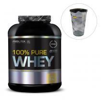 Whey protein 100 pure 2kg baunilha probiótica pro + shakeira 700ml - Probiótica
