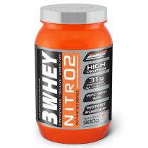 Whey Protein 3w Nitro 900g - New Millen - MORANGO - New millen suplementos