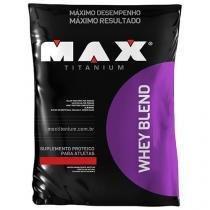 Whey Protein Blend - Refil 2kg - Morango - Max Titanium