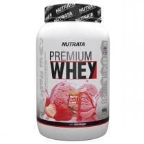 Whey Protein Concentrado PREMIUM WHEY - Nutrata Suplementos - 900g - Morango - Nutrata Suplementos