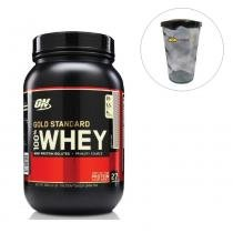 Whey Protein Gold Standard 100 909g Cookie and Cream Optimum Nutrition + Shakeira 700ml -
