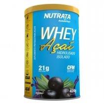 Whey Protein Hidrolisado Isolado AÇAÍ - Nutrata Suplementos - 420g - Açaí -