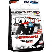 Whey Protein Refil Whey No2 + Arginina 900g - Morango-Banana - Body Nutry