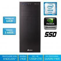 Workstation Silix X1200WB Intel Xeon E3 V6 3.5 Ghz 24GB / SSD / 2TB / Quadro Pascal P400 2GB - Silix
