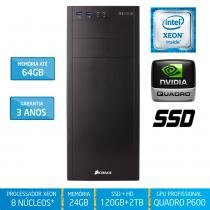 Workstation Silix X1200WE Intel Xeon E3 V6 3.5 Ghz 24GB / SSD / 2TB / Quadro Pascal P600 2GB - Silix