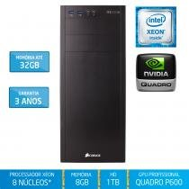 Workstation Silix X1200WE Intel Xeon E3 V6 3.5 Ghz 8GB / 1TB / Quadro Pascal P600 2GB 384 CUDA - Silix