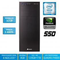 Workstation Silix X1200WH Intel Xeon E3 V6 3.5 Ghz 8GB / SSD / 1TB / Quadro Pascal P4000 8GB - Silix