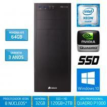 Workstation Silix X1200WK Intel Xeon E3 V6 3.5 Ghz 32GB / SSD / 2TB / Quadro P1000 4GB / Win 10 Pro - Silix