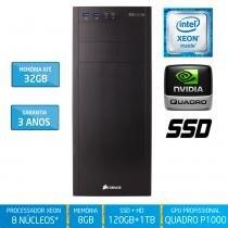 Workstation Silix X1200WK Intel Xeon E3 V6 3.5 Ghz 8GB / SSD / 1TB / Quadro Pascal P1000 4GB - Silix