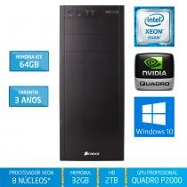 Workstation Silix X1200WM Intel Xeon E3 V6 3.5 Ghz 32GB / 2TB / Quadro Pascal P2000 5GB / Win 10 Pro - Silix