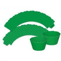 Wrappers Cupcake Poa Verde c/12 - Ultrafest -