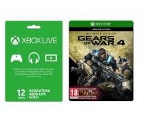 Xbox Live 12 meses + Jogo Gears of War 4 - Xbox One - Microsoft