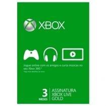 Xbox Live Gold 3 Meses - Microsoft