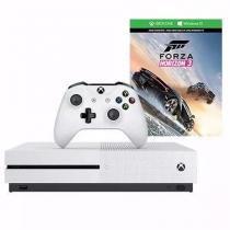 Xbox One S 500gb Bundle Forza Horizon 3   1 Jogo Aleatorio Branco - Microsoft -