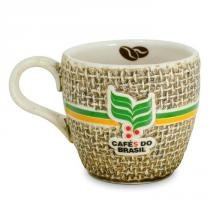 Xícara Cafés do Brasil 70ml em Cerâmica 16501G - Mondoceram - Mondoceram
