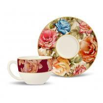 Xícara de chá vintage porto brasil cerâmica 197ml -
