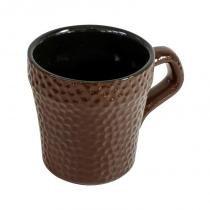 Xícara Martelada Cerâmica 150ml D9445 Chocolate - Ceraflame - Ceraflame