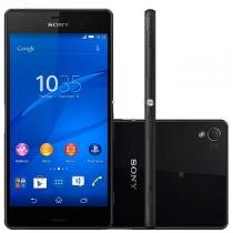 Xperia Z3 Android 4.4 Tela 5.2 16Gb 4G Dual Chip 20.7Mp Preto D6633 Sony -