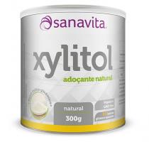 Xylitol Adoçante Natural 300g Sanavita Sem Lactose e Gluten -