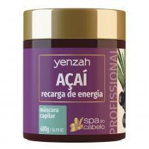 Yenzah Spa do Cabelo Máscara Açaí Recarga de Energia - 480g - Yenzah