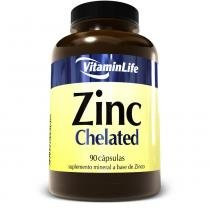 Zinc Chelated - 90 Cápsulas - Vitaminlife -
