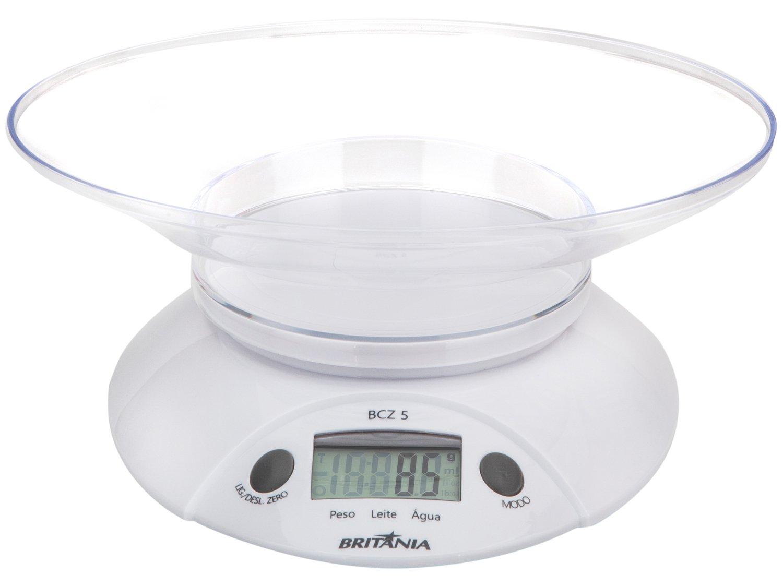 Balança de Cozinha Digital até 5kg Britânia BCZ5 Eletroportáteis  #454A38 1500x1124 Balança Digital Banheiro Britania