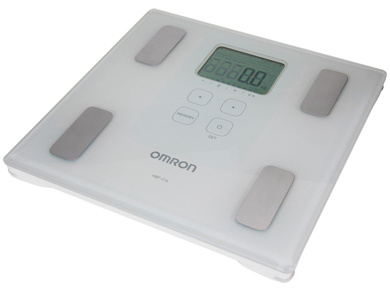 Balança Digital Até 150Kg IMC Vidro Temperado Omron HBF  214 #536D78 1500x1125 Balança Digital Para Banheiro Magazine Luiza