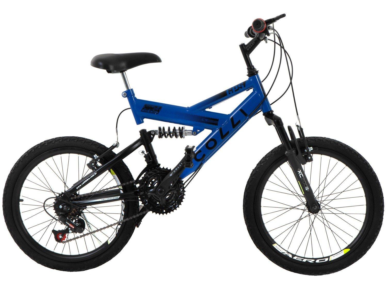 Bicicleta Colli Bike GPS Pro Aro 20 21 Marchas Dupla Suspensão Freio ... 5364a26a5eca6