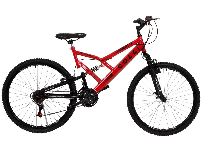 Bicicleta Colli Bike GPS Pro Aro 26 21 Marchas Dupla Suspensão Freio ... 75e2d1f4121a3