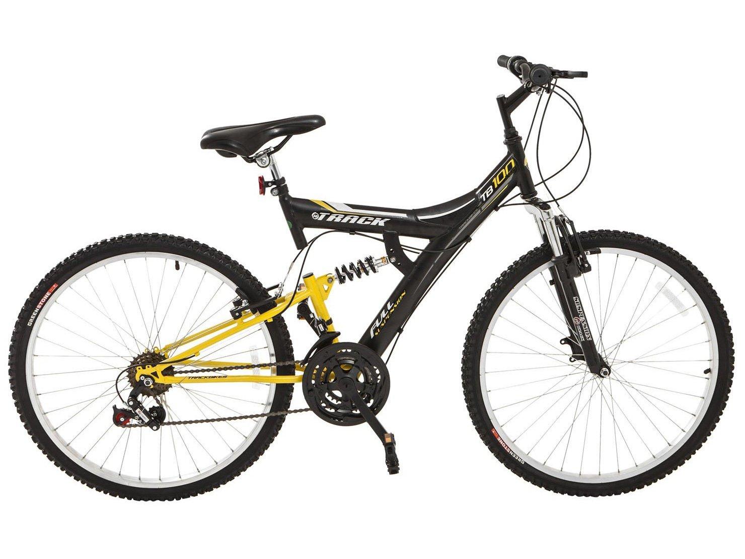 797a9abaa Bicicleta Track Bikes TB-100XS PA Aro 26 - 18 Marchas Suspensão Central  Quadro de Aço