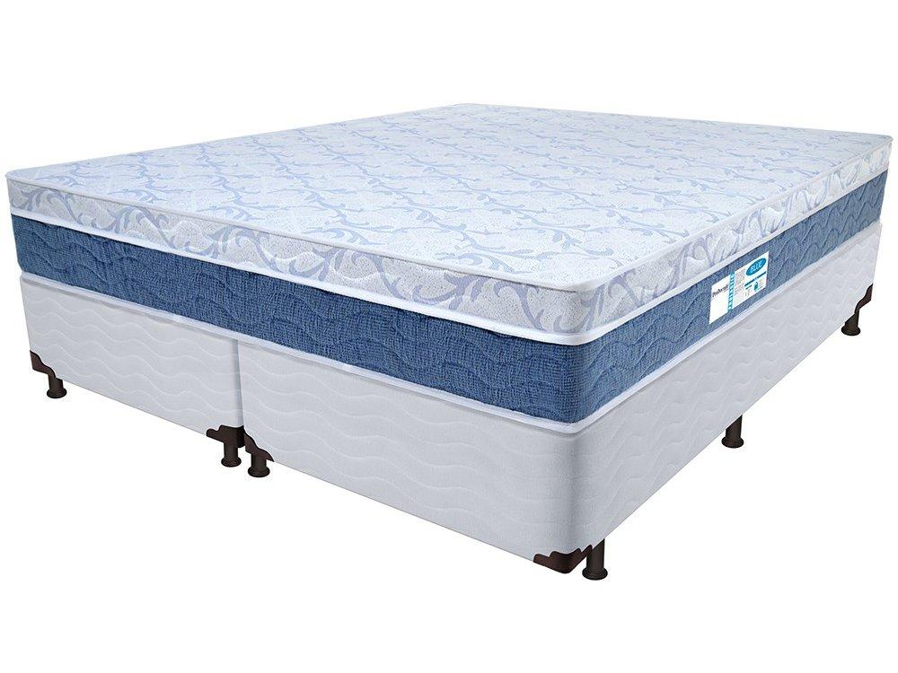 d8120aa31 Cama Box King Size (Box + Colchão) ProDormir - Colchões Mola 34cm de Altura  Sensitive Blue
