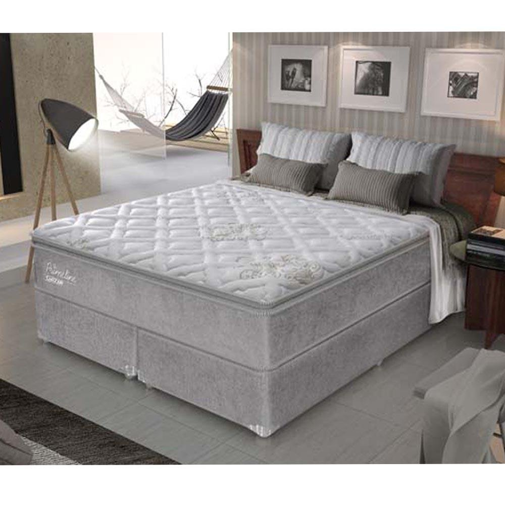 Cama box king size primeline latex molas ensacadas macio for Cama king paraiso