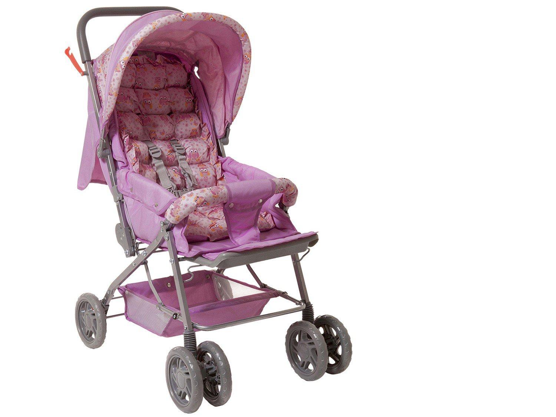 1226e4469a Carrinho Berço de Bebê Stillo Coruja Reclinável - 3 Posições para Crianças  até 15kg