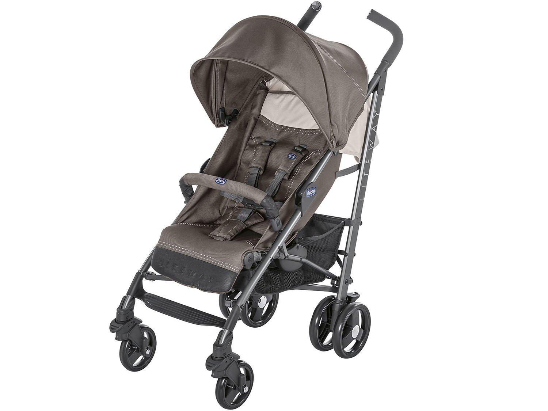 0c5aa96d7 Carrinho de Bebê Passeio Chicco Lite Way - Stroller Dove Gray Reclinável 5  Posições