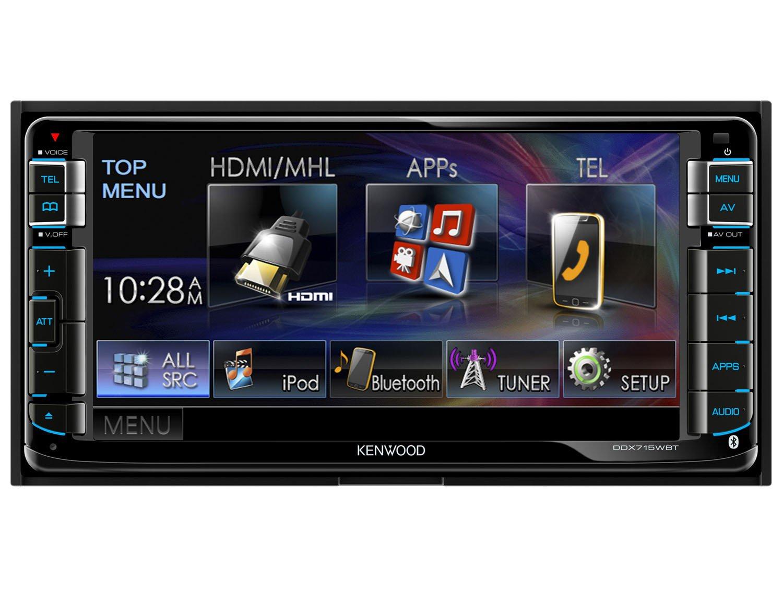 """Central Multimídia Kenwood DDX715WBT LCD 6,95"""" USB Bluetooth"""