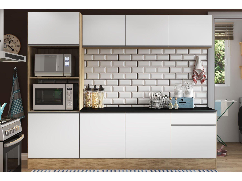 Armario De Parede Para Forno Eletrico : Cozinha compacta com balc?o multim?veis linea nicho para