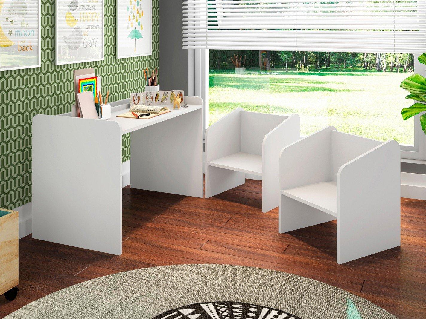 1bdfba912 Escrivaninha para Quarto Infantil 2 Cadeiras Art In Móveis ...