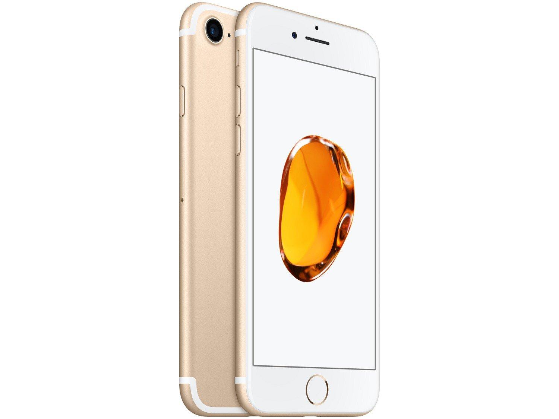 "d015dcf4d iPhone 7 Apple 32GB Dourado 4G Tela 4.7"" Retina - Câm. 12MP + Selfie 7MP  iOS 11 Proc. Chip A10"