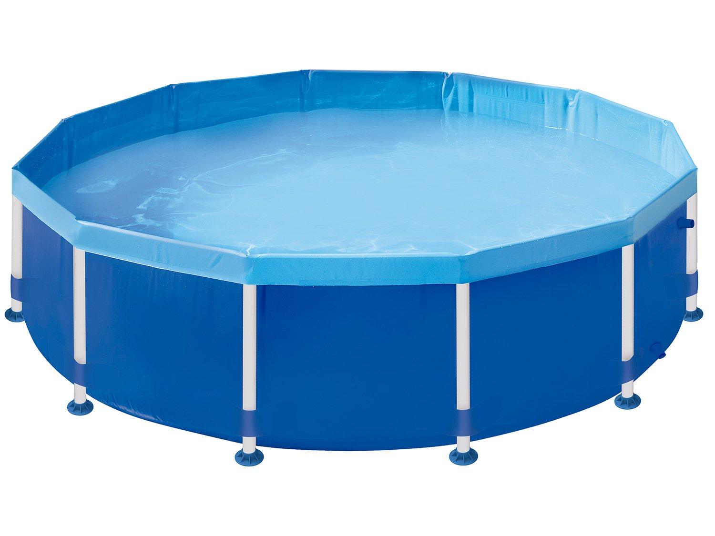 Piscina 5500 litros redonda mor circular piscina for Piscinas baratas de plastico