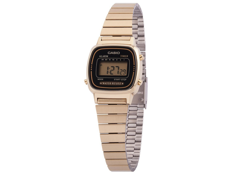 42c75b0ee412c Relógio Feminino Casio Digital LA670WGA-1DF - Relógio Feminino ...