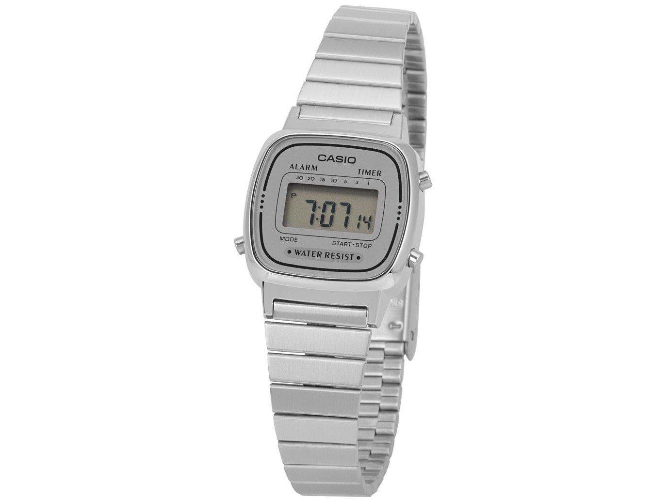 2e75127a13087 Relógio Feminino Casio Digital Vintage LA670WA-7DF - Relógio ...