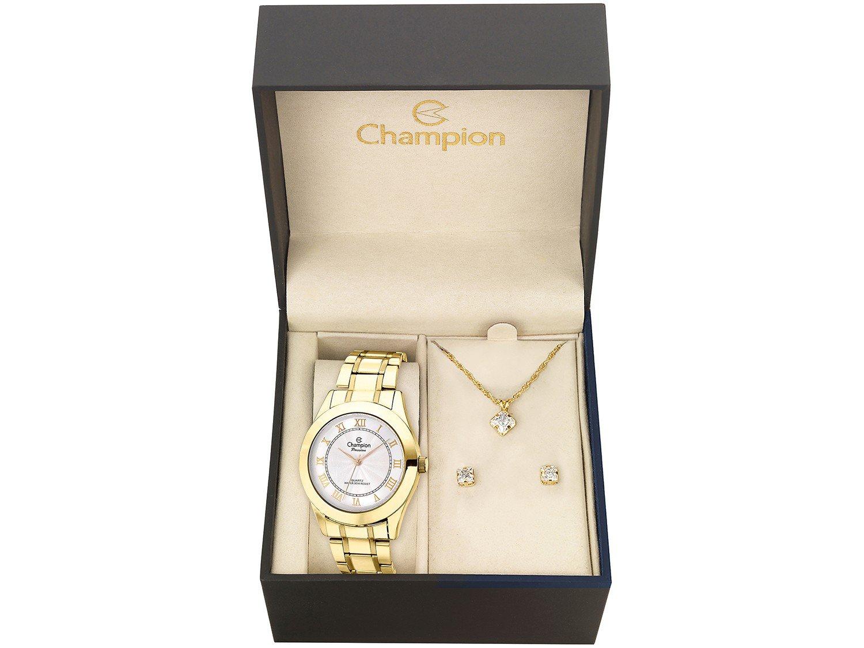 755e6320379b Relógio Feminino Champion Analógico CH24544W com Bijouteria ...